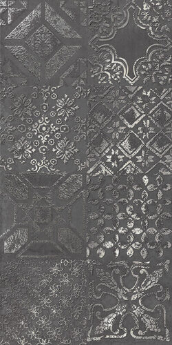 Керамогранит Abitare La Ceramica Icon Dec. Patchwork Black Lapp. 30x60